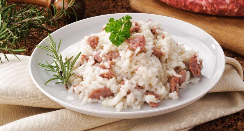 Ricetta risotto con salsiccia