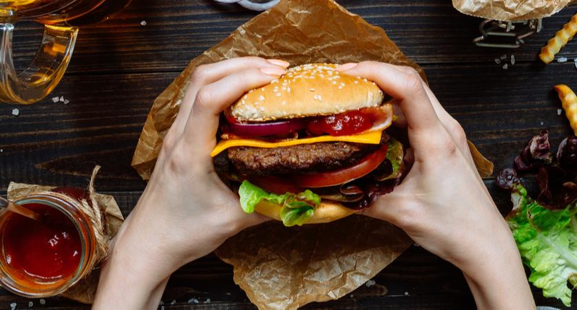 calorie hamburger