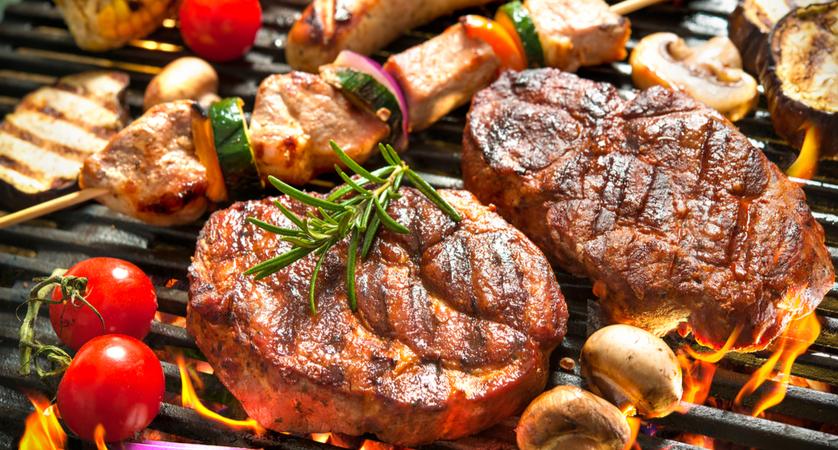 Qual è la temperatura della carne alla brace?